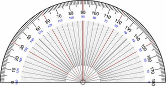 Protractor - Image: Protractor Rapporteur Degrees V3