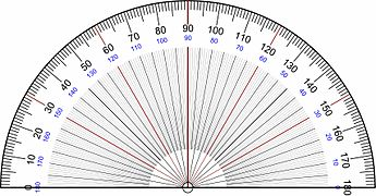 Vibrant image in printable protractor