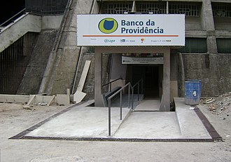 Hélder Câmara - Entrance to the branch of the Banco da Providência located in the Rio de Janeiro Cathedral