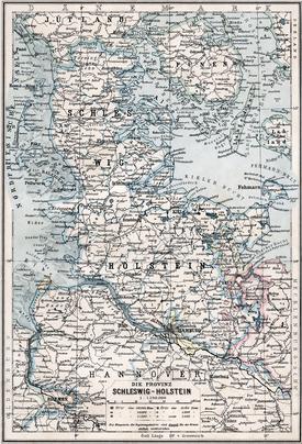 Karte der Provinz Schleswig-Holstein