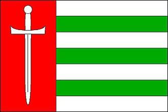 Pustá Polom - Image: Pustá Polom flag