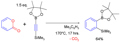 Pyrone cycloaddition