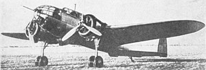 PZL.37 Łoś - The second prototype of the PZL.37 Łoś