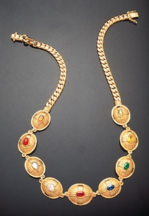 "Navaratna - Thailand's flawless ""Queen Sirikit Navaratna"" Necklace."