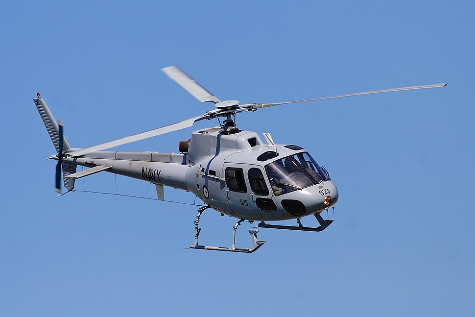 RAN squirrel helicopter at melb GP 08