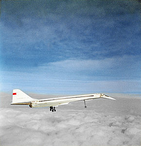 RIAN archive 368835 A Tupolev Tu-144 supersonic transport in mid-air.jpg