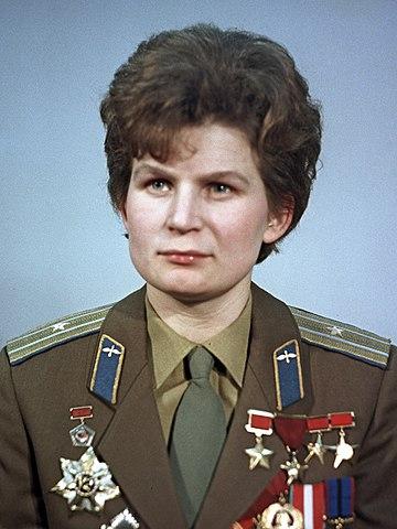 Cosmonaut Valentina Tereshkova in 1969Source: Wikipedia 360px-RIAN_archive_612748_Valentina_Tereshkova_%283-4_crop%29.jpg