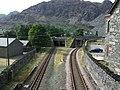 Rail tracks from Blaenau Ffestiniog - geograph.org.uk - 1478343.jpg