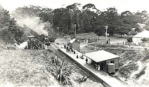 South Coast Line - Image: Railway Station Austinmer