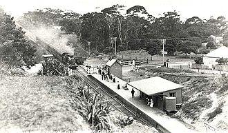 South Coast Line - Image: Railway Station Austinmer