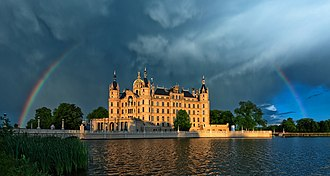 Landtag of Mecklenburg-Vorpommern - The Schwerin Palace in the state capital, where the Landtag meets.