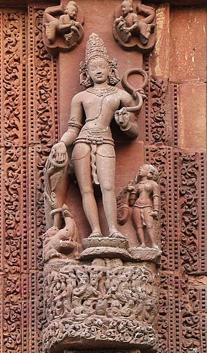 Rajarani Temple - A sculpture on the walls of the sanctum