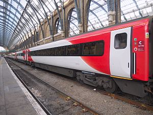 British Rail Mark 4 - Virgin Trains East Coast Mark 4 carriages at London King's Cross