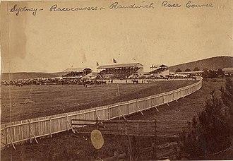 Randwick Racecourse - Randwick Racecourse in 1863