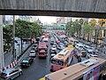 Ratchadamri Rd.(Chit Lom駅周辺)での渋滞.JPG