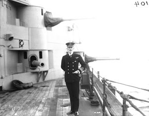 HMS Lion (1910) - Pakenham aboard his flagship Lion, February 1917