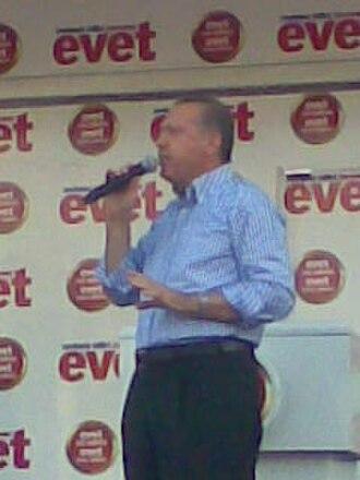 Electoral history of Recep Tayyip Erdoğan - Erdoğan during a public appearance in Diyarbakir (September 3, 2010)