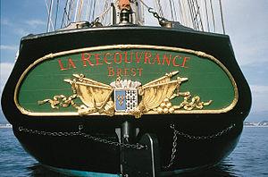 La Recouvrance (schooner) - Image: Recouvrance stern