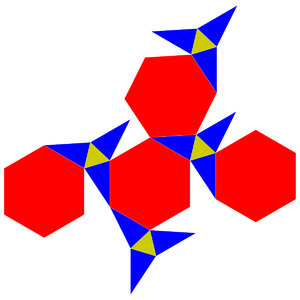 Rectified truncated tetrahedron - Image: Rectified truncated tetrahedron net
