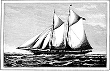 Yacht Red Gauntlet Owned By Edward Ned Langtry First Husband Of Actress Lillie Le Breton