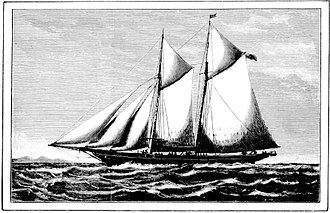 """Lillie Langtry - Yacht Red Gauntlet owned by Edward """"Ned"""" Langtry, first husband of actress Lillie (le Breton) Langtry"""