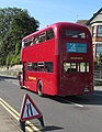 Red double-decker bus, Broad Street, Barry (geograph 6261942).jpg