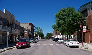 Redwood Falls, Minnesota - Street in downtown Redwood Falls