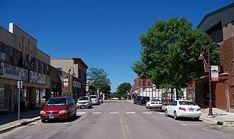 Redwood Falls, Minnesota - Street in downtown Redwood Falls