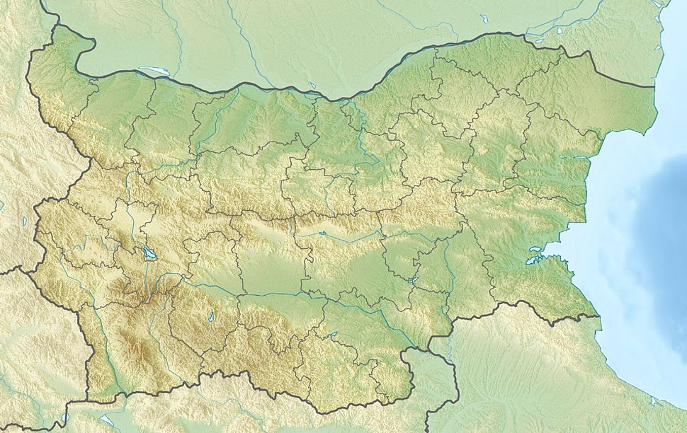Relief Map of Bulgaria