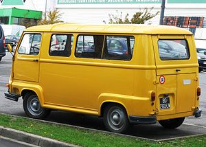 Renault Estafette - Renault Alouette, pictured  from an angle that highlights the three part rear door arrangement that was a feature of the design