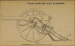 RML 13 pounder 8 cwt - Report of the British naval and military operations in Egypt, 1882 (1883) (14780406711)