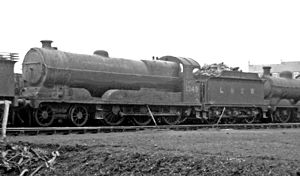 GCR Class 1A - No. 1349 at Retford (GC) Locomotive Depot 13 April 1947
