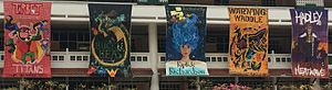 Raffles Girls' School (Secondary) - House banners