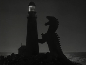 The Beast from 20,000 Fathoms - The Beast destroys a lighthouse, an original concept from The Fog Horn short story