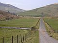 Road in the valley of the Hermitage Water - geograph.org.uk - 1251230.jpg