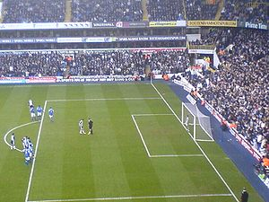Robbie Keane - Keane stepping up to take a penalty against Birmingham City at White Hart Lane in December 2005