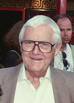 Wise at the premiere of Air America, 1990