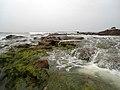 Rocks at Bheemunipatnam beach.JPG