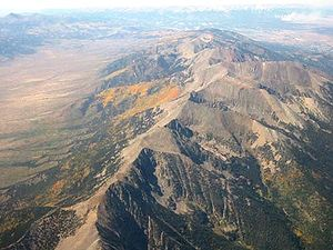 Aerial view of the Colorado Rocky Mountains