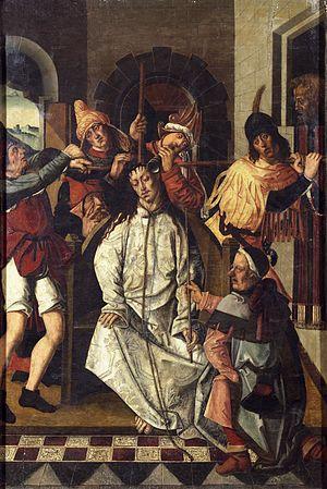 Rodrigo de Osona - Crowning with Thorns by Rodrigo and Francisco de Osona, basilica of Museo del Prado, 1500