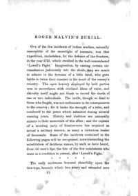 Roger Malvin's Burial cover
