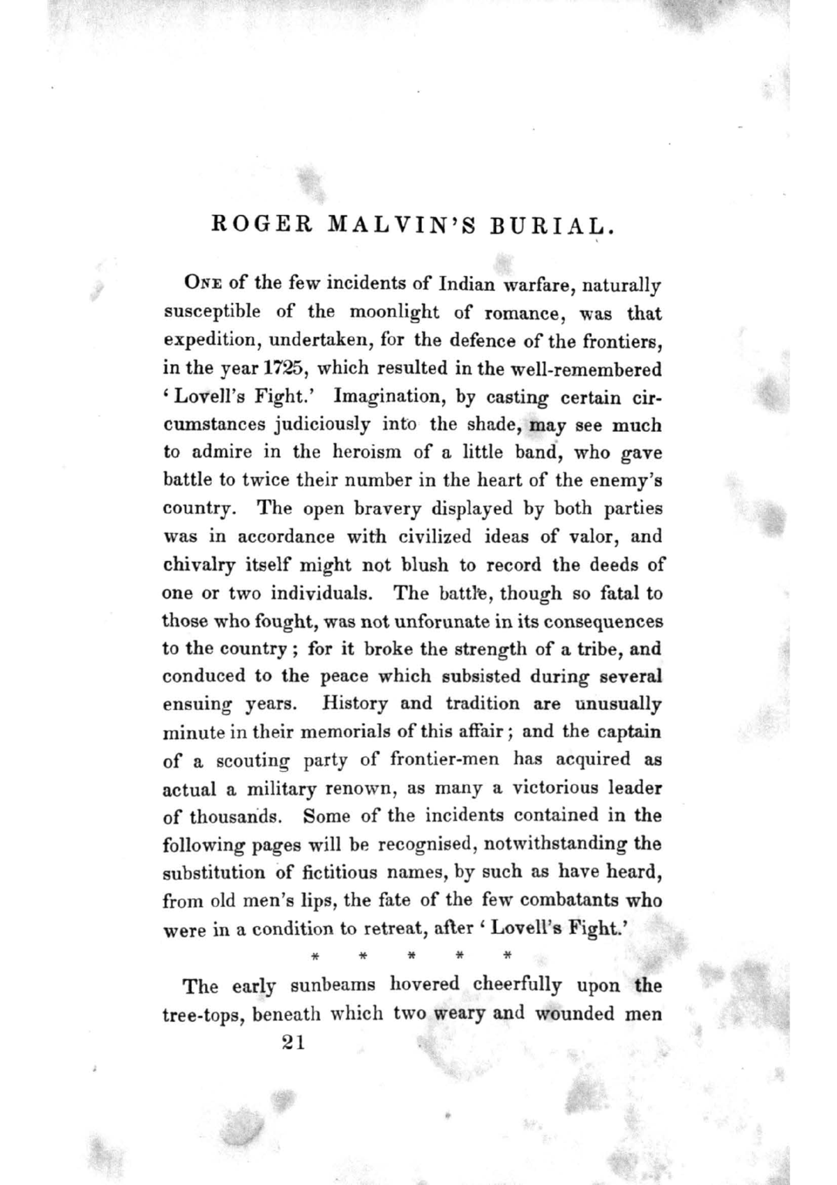 An Overwhelming Sin and Guilt in Roger Malvin's Burial by Nathaniel Hawthorne