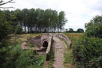River Gowy - One of the 'Roman' bridges at Hockenhull Platts