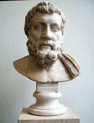 Metrodorus of Lampsacus (the younger) - Roman copy of a Greek portrait bust of Metrodorus. (Pergamon museum, Berlin)