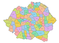 Romania 1930 (Counties Colored Labeled).png
