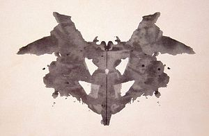 the first of the blots of the Rorschach inkblo...