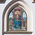 Rosenheim Pfarrkirche St. Nikolaus Mosaik der Thronenden Maria 2018 04 07.jpg
