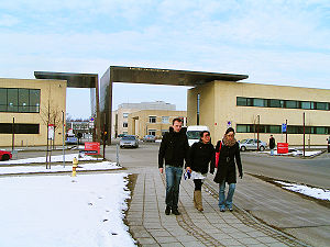 Roskilde University - Outside Roskilde University on a cold Danish winter day