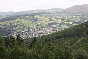 Rostrevor - Rostrevor seen from Rostrevor Forest in 2010 (Carlingford Lough is to the left of the picture)