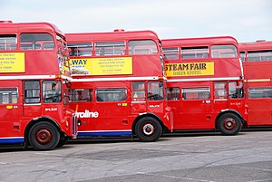 Routemasters RML2620, RML2731 & RM349, 2010 North Weald bus rally.jpg